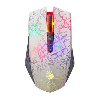 A4tech myš Bloody A60 Blazing, 4000DPI, optická, 8tl., 1 kolečko, drátová (USB), bílá, herní, V-Track, CORE2