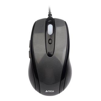 A4tech Myš N-708X, 1600DPI, optická, 6tl., 1 kolečko, drátová USB, černá, herní, V-Track