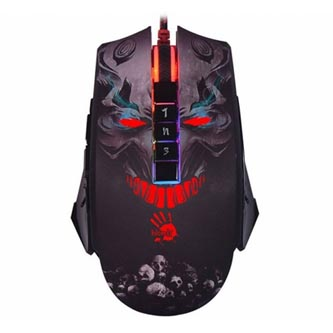 A4tech Myš BLOODY P85, 5000DPI, optická, 8tl., 1 kolečko, drátová USB, černá, herní, Light Strike