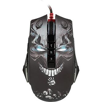 A4tech Myš Bloody P85 BLACK, 5000DPI, optická, 8tl., 1 kolečko, drátová USB, černá, herní, Light Strike, CORE 2