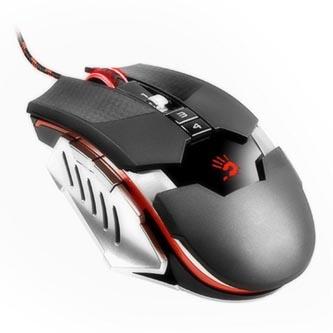 A4tech Myš Bloody T5 Winner, 4000DPI, optická, 9tl., 1 kolečko, drátová USB, černá, herní, V-Track, CORE2, paměť 160kB