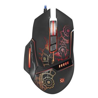 Defender Myš Kill,em All GM-480L, 3200DPI, optická, 8tl., 1 kolečko, drátová USB, černá, herní, podsvícená