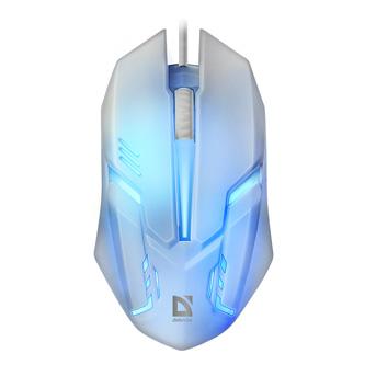 Defender Myš Cyber MB-560L, 1200DPI, optická, 3tl., 1 kolečko, drátová USB, bílá, herní, podsvícená