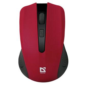 Defender Myš Accura MM-935, 1600DPI, 2.4 [GHz], optická, 4tl., 1 kolečko, bezdrátová, červená, 2 ks AAA, nanopřijímač, rozsah 10m