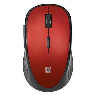 Defender Myš Hit MM-415, 1600DPI, 2.4 [GHz], optická, 6tl., 1 kolečko, bezdrátová, černo-červená, 2 ks AAA, nanopřijímač