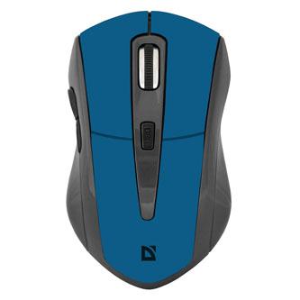 Defender Myš Accura MM-965, 1600DPI, 2.4 [GHz], optická, 6tl., 1 kolečko, bezdrátová, modrá, 2 ks AAA, nanopřijímač, rozsah 10m