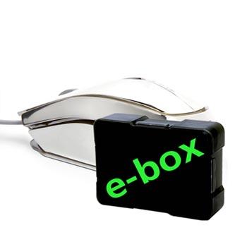 E-Blue Myš MOOD, 2400DPI, optická, 3tl., 1 kolečko, drátová USB, stříbrná, 7 barev podsvícení, e-box