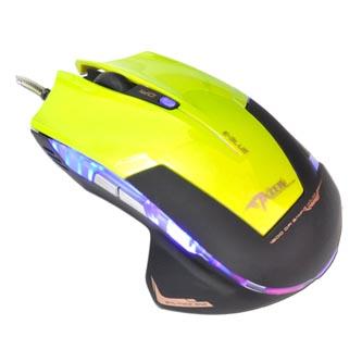 E-Blue Myš Mazer R, 2400DPI, optická, 6tl., 1 kolečko, drátová USB, zelená, herní