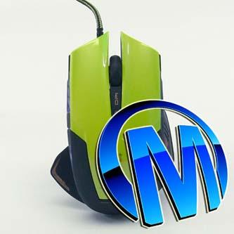 E-Blue Myš Mazer R, maketa, 2400DPI, optická, 6tl., 1 kolečko, drátová USB, zelená, herní