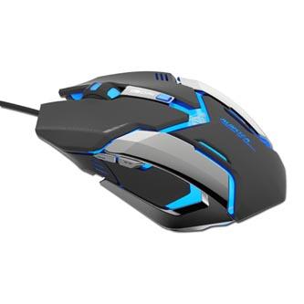 E-Blue Myš Auroza Gaming, 4000DPI, optická, 6tl., 1 kolečko, drátová USB, černá, herní