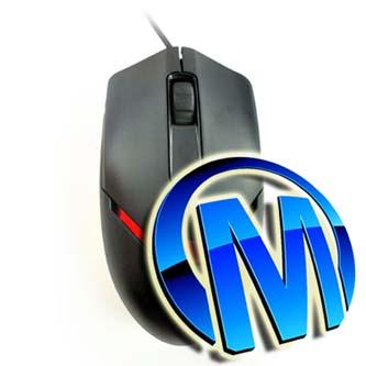 E-Blue Myš Puntero, maketa, 800DPI, optická, 3tl., 1 kolečko, drátová (USB), černá