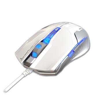 E-Blue Myš Auroza G, 3000DPI, optická, 6tl., 1 kolečko, drátová USB, bílá, herní