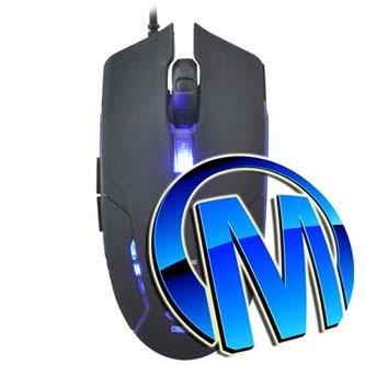 E-Blue Myš Cobra II, maketa, 1600DPI, optická, 6tl., 1 kolečko, drátová USB, černá, herní