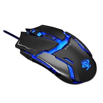 E-Blue Myš Auroza Type IM, 4000DPI, optická, 6tl., 1 kolečko, drátová USB, černá, herní