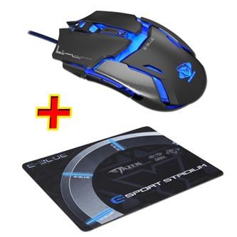 E-Blue Myš Auroza Type IM, optická, 6tl., 1 kolečko, drátová (USB), černá, 4000DPI, herní, PROMO