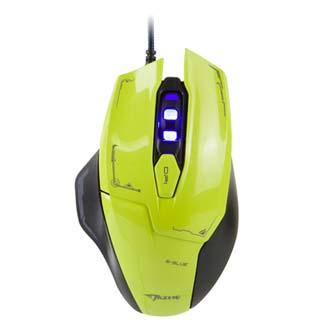 E-Blue Myš Mazer, 2500DPI, optická, 6tl., 1 kolečko, drátová USB, zelená, herní