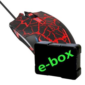 E-Blue Myš Cobra, 2500DPI, optická, 6tl., 1 kolečko, drátová USB, černo-červená, herní, e-box