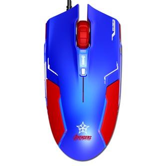 E-Blue Myš Captain America, 1600DPI, optická, 6tl., 1 kolečko, drátová USB, modrá, herní