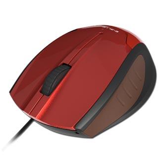 E-Blue Myš Extency, optická, 3tl., 1 kolečko, drátová (USB), červená, 1480DPI, navíjecí