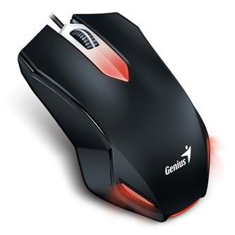 Genius Myš Gaming X-G200, 1000DPI, optická, 3tl., 1 kolečko, drátová (USB), černá