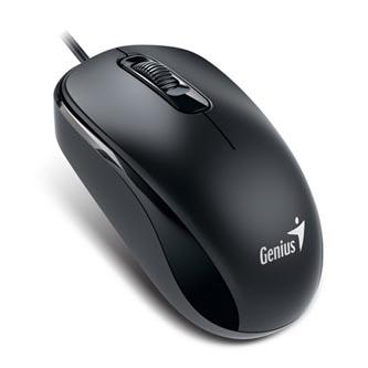 Genius Myš DX-110, 1000DPI, optická, 3tl., 1 kolečko, drátová USB, černá