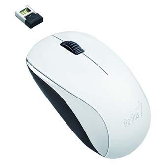 Genius Myš NX-7000, 1200DPI, 2.4 [GHz], optická, 3tl., 1 kolečko, bezdrátová, bílá, univerzální