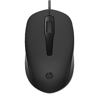 HP myš 150 1600DPI, optická, 3tl., 1 kolečko, drátová USB-A, černá, 1 ks Windows 7,8,10, Mac 10.1 a vyšší