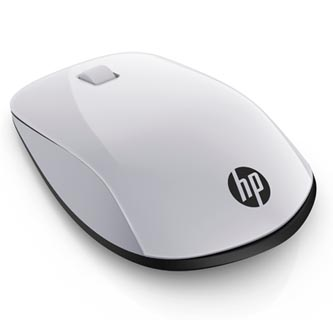 HP myš Wireless Z5000 Pike Silver, 1200DPI, bluetooth, optická, 3tl., 1 kolečko, bezdrátová (USB), stříbrná, 1 ks AAA, Apple MacOS