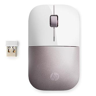 HP myš HP Z3700 white pink 1200DPI, optický, 3tl., 1 kolečko, bezdrátová, bílá/růžová