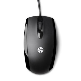 HP myš X500 Wired mouse, 800DPI, optická, 3tl., 1 kolečko, drátová (USB), černá, Apple Mac OS X, Microsoft Windows Vista /XP/7/8