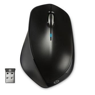 HP myš X4500 Wireless Laser Mouse, 1600DPI, 2.4 [GHz], laserová, 3tl., 1 kolečko, bezdrátová (USB), černá, 2 ks AA, Microsoft Wind