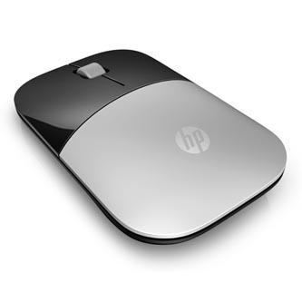 HP myš Z3700 Wireless Silver, 1200DPI, 2.4 [GHz], optická Blue LED, 3tl., 1 kolečko, bezdrátová, stříbrná, 1 ks AA, Windows 7/8/10