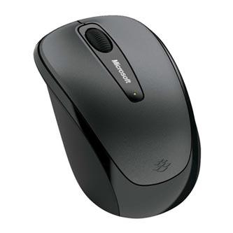 Microsoft Myš Mobile Mouse 3500, 1 ks AA, 2.4 [GHz], optická, 3tl., 1 kolečko, bezdrátová, šedá, 1000DPI, klasická, Microsoft Nano