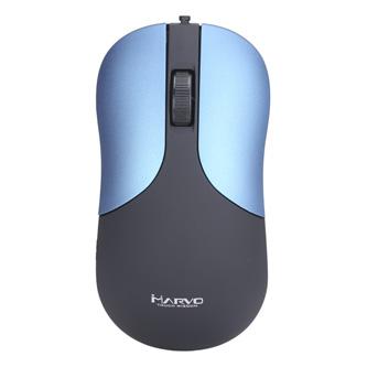 Marvo Myš DMS002BL, 1200DPI, optika, 3tl., 1 kolečko, modrá, kancelářská