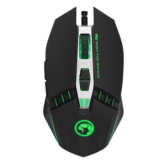 Marvo Myš M112, 4000DPI, optika, 7tl., 1 kolečko, drátová USB, černá, herní, podsvícená