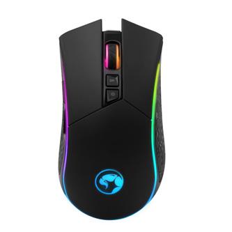Marvo Myš M513, 6400DPI, optika, 7tl., 1 kolečko, drátová USB, černo-stříbrná, herní, podsvícená