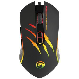 Marvo Myš M425G, 3200DPI, optika, 7tl., 1 kolečko, drátová USB, černá, herní, podsvícená