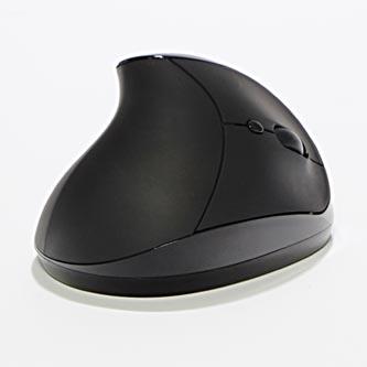 Myš Ergo, 2 ks AAA, 2.4 [GHz], optická, 6tl., 1 kolečko, bezdrátová, černá, 1600DPI