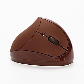 Myš Ergo, 2 ks AAA, 2.4 [GHz], optická, 6tl., 1 kolečko, bezdrátová, hnědá, 1600DPI