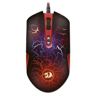 Redragon Myš LAVAWOLF, 3500DPI, optická, 8tl., 1 kolečko, drátová USB, černo-červená, herní