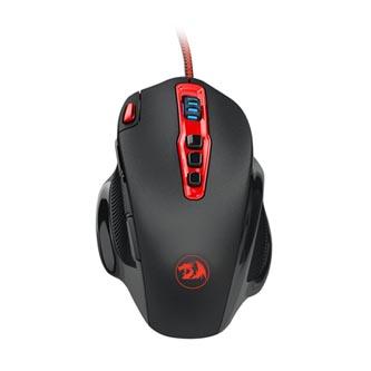 Redragon Myš HYDRA, 14400DPI, laserová, 11tl., 1 kolečko, drátová USB, černo-červená, herní, podsvícená