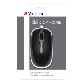 Verbatim myš 1000DPI, optická, 3tl., 1 kolečko, drátová USB, černá