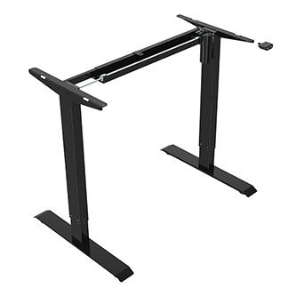 Rám stolu, elektricky nastavitelná výška, rozsah 500 mm, 100V-240V, černý, 70 kg nosnost, ergo