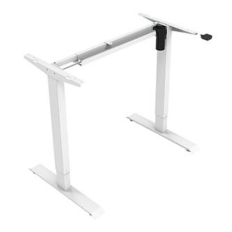 Rám stolu, elektricky nastavitelná výška, rozsah 500 mm, 100V-240V, bílý, 70 kg nosnost, ergo