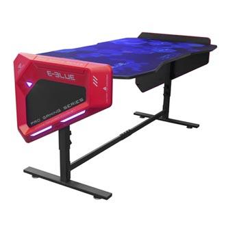 E-Blue Herní stůl EGT003BK, 165x88,5x64 cm, RGB podsvícení, výškově nastavitelný, s podložkou pod myš