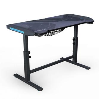 E-Blue Herní stůl EGT574BK, 113cm x 59,5cm, 74-86,8cm, podsvícený, nastavitelná výška