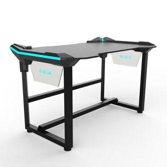 E-Blue Herní stůl EGT536BK, 136,5 x 80,3 x 81,0 cm, podsvícený