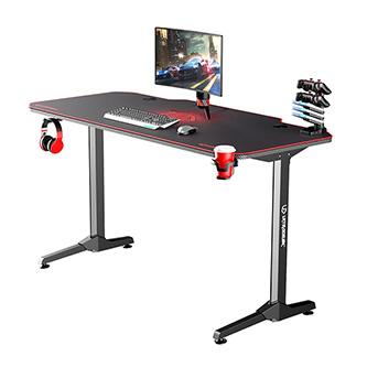 ULTRADESK Herní stůl FRAG - RED, 140x66 cm, 76 cm, s XXL podložkou pod myš, s ultradesk BEAM, držák sluchátek i nápojů