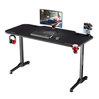 ULTRADESK Herní stůl FRAG - GRAPHITE, 140x66 cm, 76 cm, s XXL podložkou pod myš, s ultradesk BEAM, držák sluchátek i nápojů