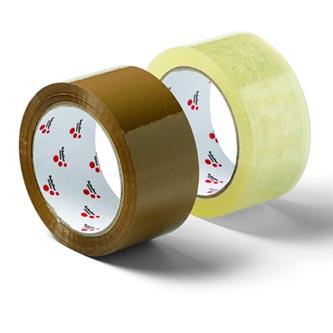 Páska balící 4,8cm, BOX TAPE, 66m, silně lepící, velmi tichá, hnědá, Schuller Eh,klar